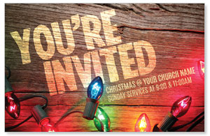 Invited Christmas Lights InviteCards