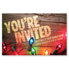 Invited Christmas Lights InviteCard