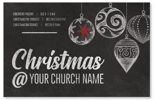 White Chalk Christmas Medium InviteCards