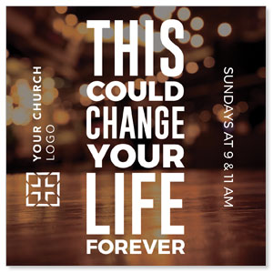"Change Your Life Lights 4"" x 4"" Square InviteCards"