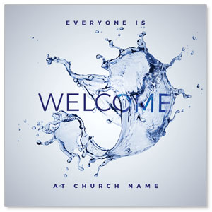 Welcome Water Splash InviteCards
