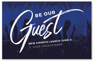 Guest Blue Praise Medium InviteCards