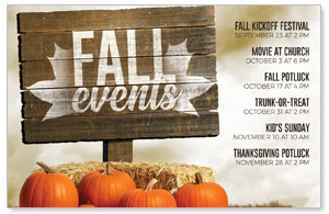 Fall Events Pumpkins Medium InviteCards