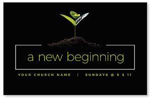 New Beginning Plant Medium InviteCards