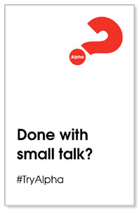 Alpha Small Talk Medium InviteCards
