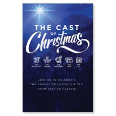 The Cast of Christmas InviteCard