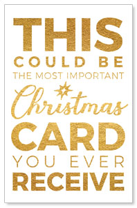 Christmas Gold Could Be Medium InviteCards