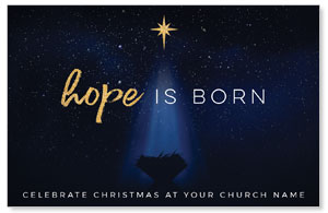Christmas Star Hope is Born Medium InviteCards