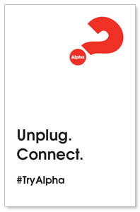 Alpha Unplug Medium InviteCards