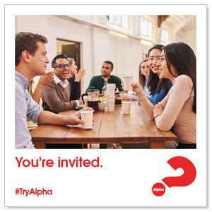 "Alpha Youre Invited 4"" x 4"" Square InviteCards"