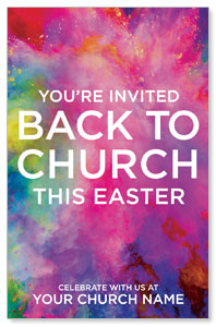 Back to Church Easter Medium InviteCards