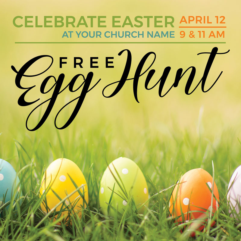 InviteCards, Easter, Free Easter Egg Hunt, 4 x 4