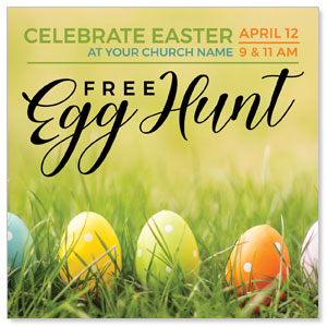 "Free Easter Egg Hunt 4"" x 4"" Square InviteCards"