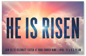 He Is Risen Bold Medium InviteCards