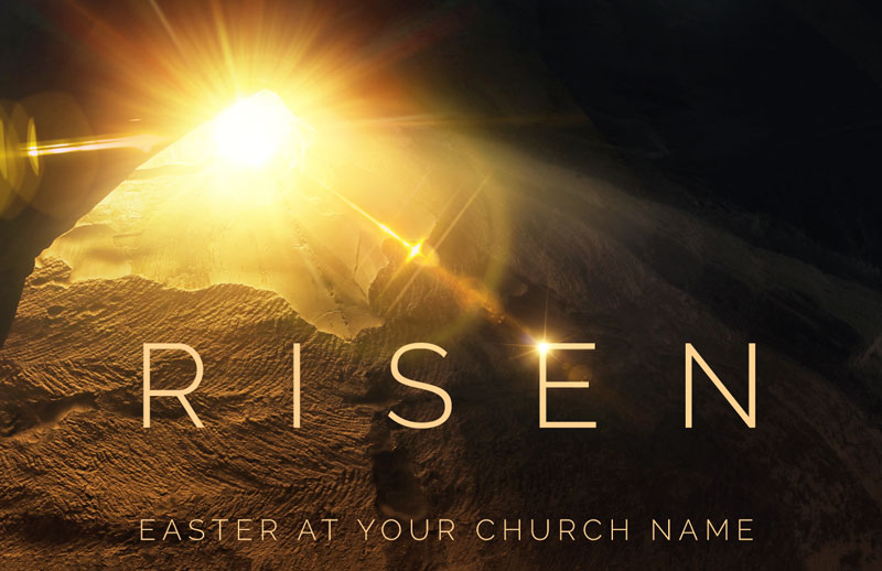 InviteCards, Easter, Risen Light Tomb, 4.25 x 2.75