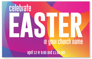 Curved Colors Easter Medium InviteCards