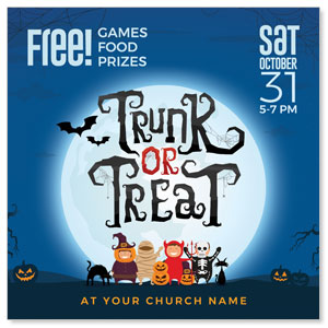 "Trunk or Treat Kids 4"" x 4"" Square InviteCards"