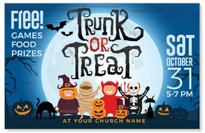 Trunk or Treat Kids Medium InviteCards