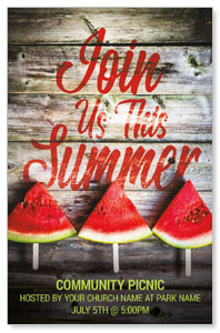 Summer Watermelon Events Medium InviteCards
