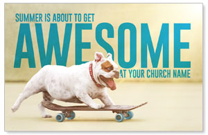 Awesome Summer Dog Medium InviteCards