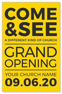 Yellow Grand Opening Medium InviteCards