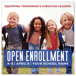 "Kids Enroll Together 4"" x 4"" Square InviteCards"