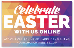 Geometric Bold Easter Online Medium InviteCards