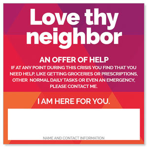 "Geometric Bold Love Thy Neighbor 4"" x 4"" Square InviteCards"