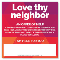 Geometric Bold Love Thy Neighbor