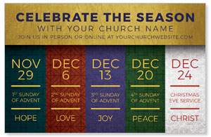 Celebrate The Season Advent Medium InviteCards
