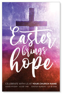 Easter Brings Hope Cross Medium InviteCards