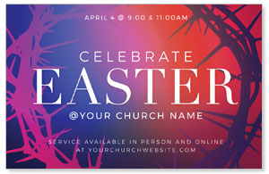 Celebrate Easter Crown Medium InviteCards