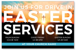 Drive In Easter Services Medium InviteCards