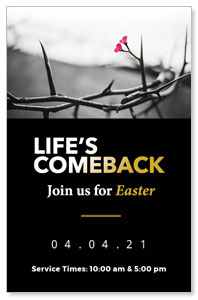 Life's Comeback Medium InviteCards