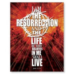 I am the Resurrection JumboCard