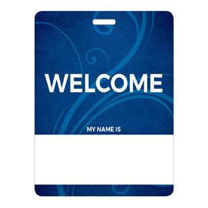 Flourish Welcome Name Badges