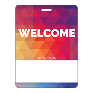Geometric Bold Name Badges