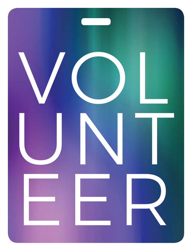 Abstract Volunteer Stack Name Badge