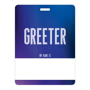 Aurora Lights Greeter Name Badges