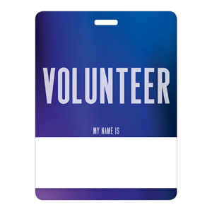 Aurora Lights Volunteer Name Badges