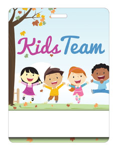 Kids Team Happy Kids Name Badges
