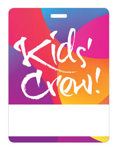 Curved Colors Kid's Crew Name Badges
