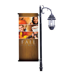 Fall Is Here Light Pole Banners