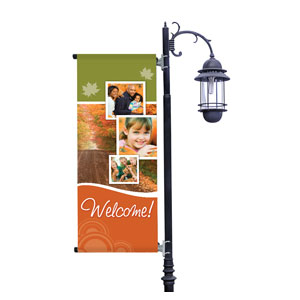Fall Path Light Pole Banners