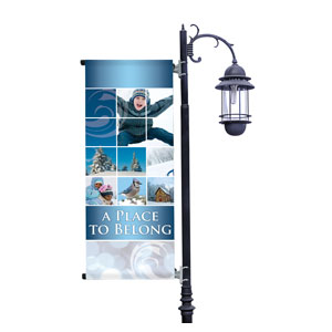 Belong Winter Light Pole Banners
