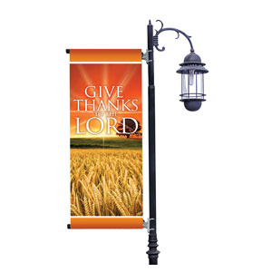 Give Thanks Lord Light Pole Banner Light Pole Banners