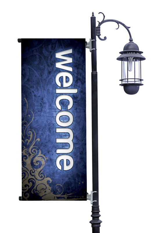 Banners, Directional, Adornment Welcome, 2' x 5'