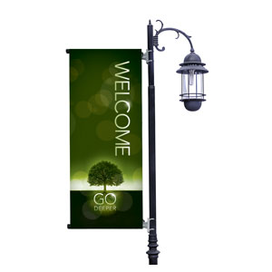 Deeper Roots Welcome Light Pole Banners