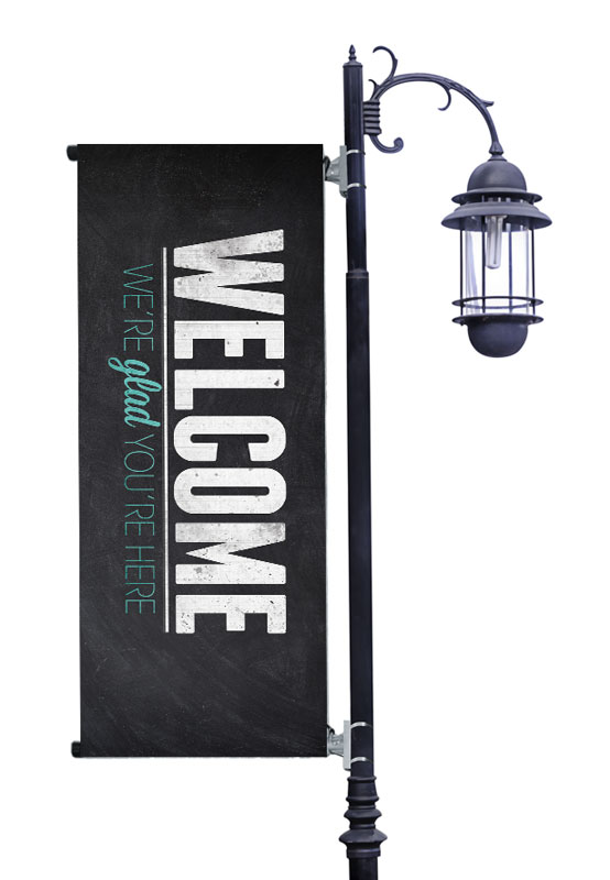 Slate Welcome Banner Church Banners Outreach Marketing