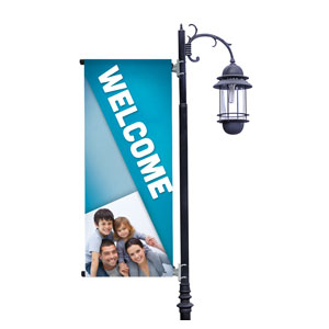 Family Welcome Light Pole Banners